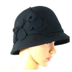 BOGO Nine West Black Wool Felt Hat OS